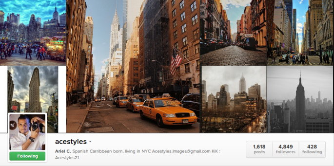 Pause The World:  5 NYC Instagramers To Follow