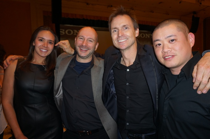 Jaclynne Gentry, Simon Marsh, Phil Keoghan, and me.  Photo credit: Mike DesRoches