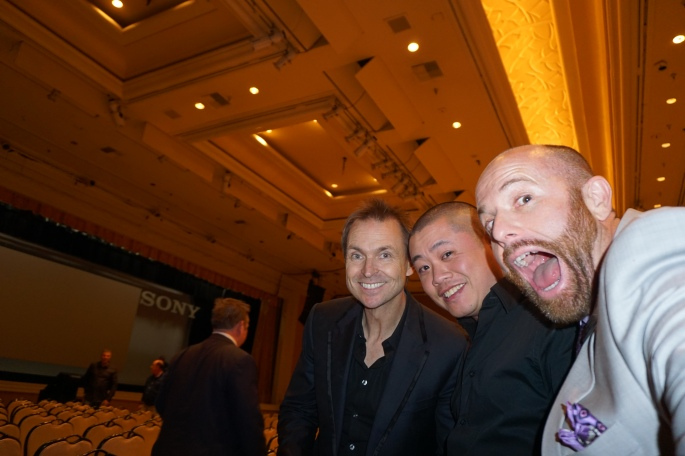 Phil Keoghan was cool. He even let Mike DesRoches take this off-centered selfie of us with him.