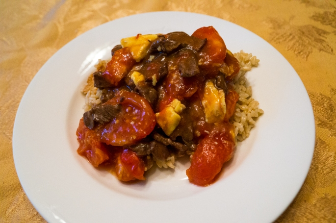 All About The Food:  Beef with Tomatoes
