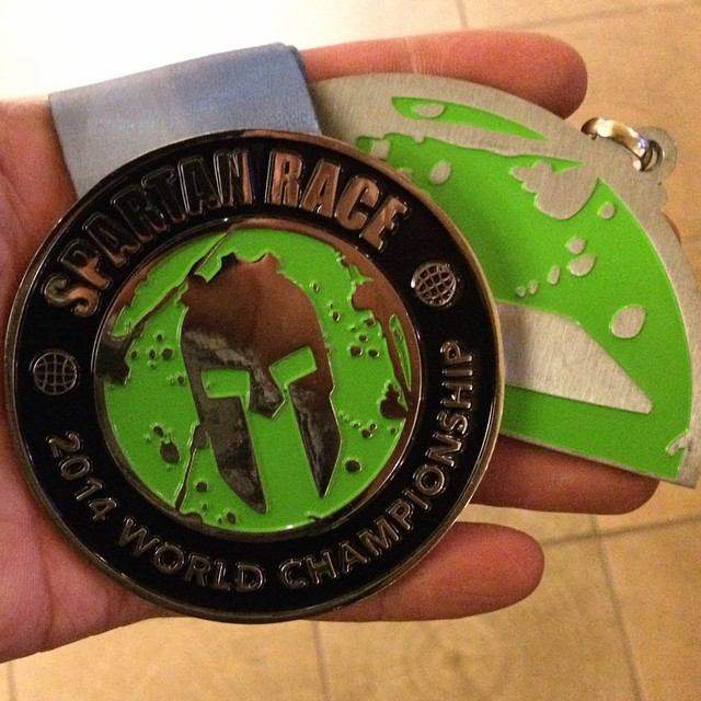 The 2014 Vermont Beast medal, the last piece of my first trifecta, looks pretty good.